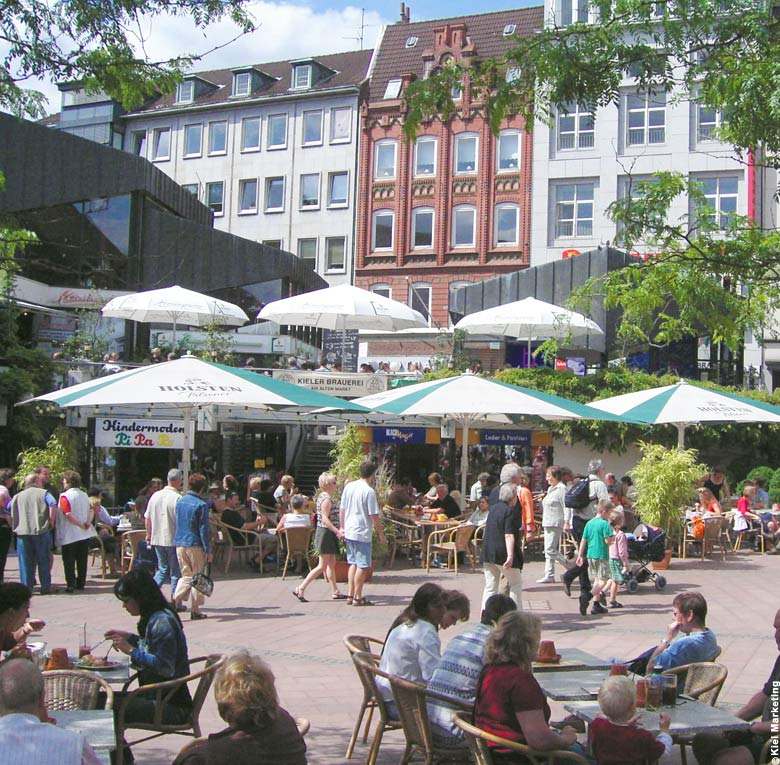 Old Town / Alter Markt in Kiel, Germany