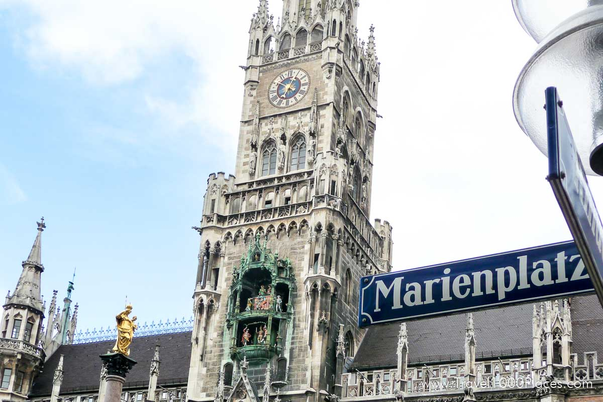 Neues Rathaus (New Town Hall) at Marienplatz in Munich, Germany