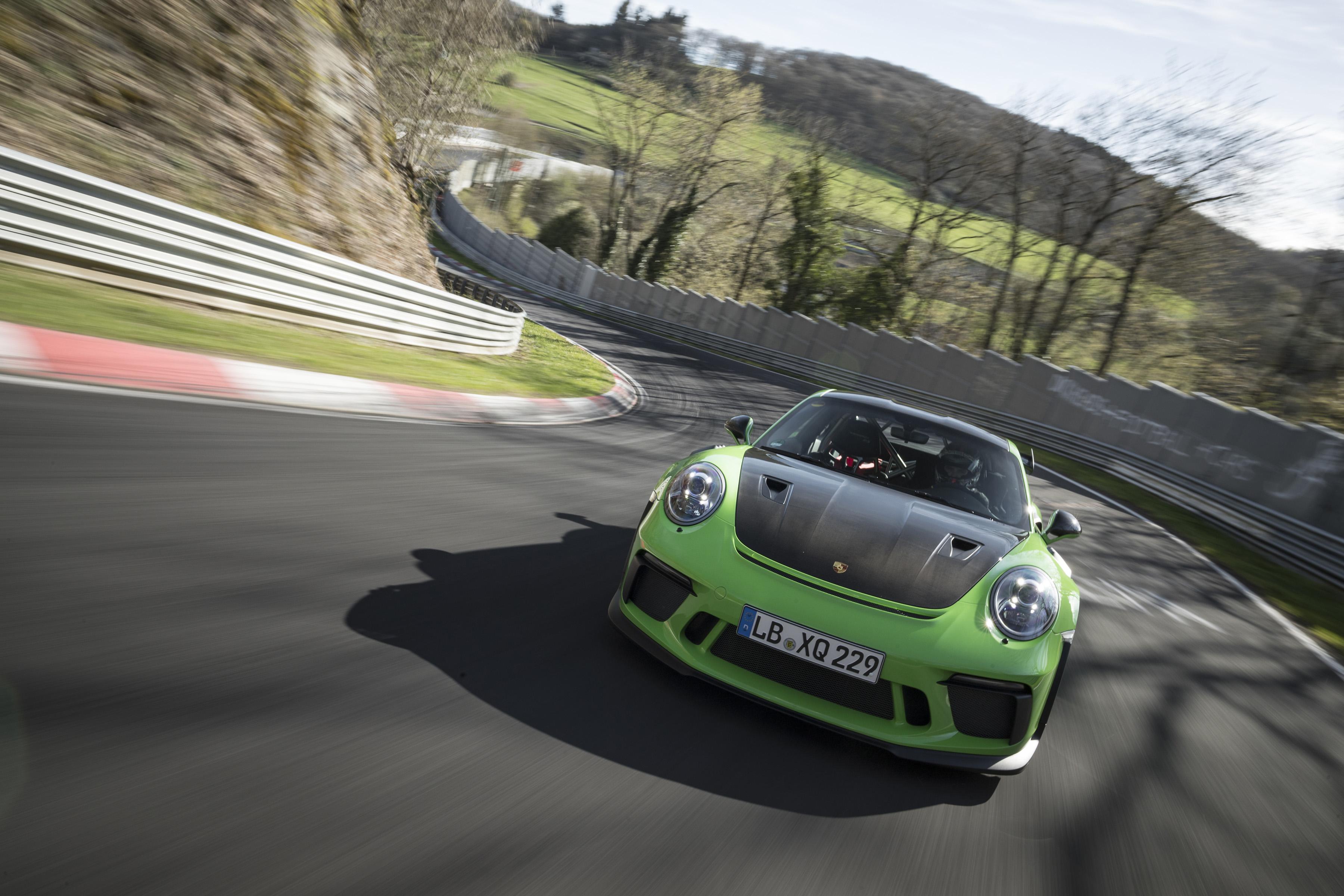 Porsche GT3 RS on Nürburgring (photo: Porsche)