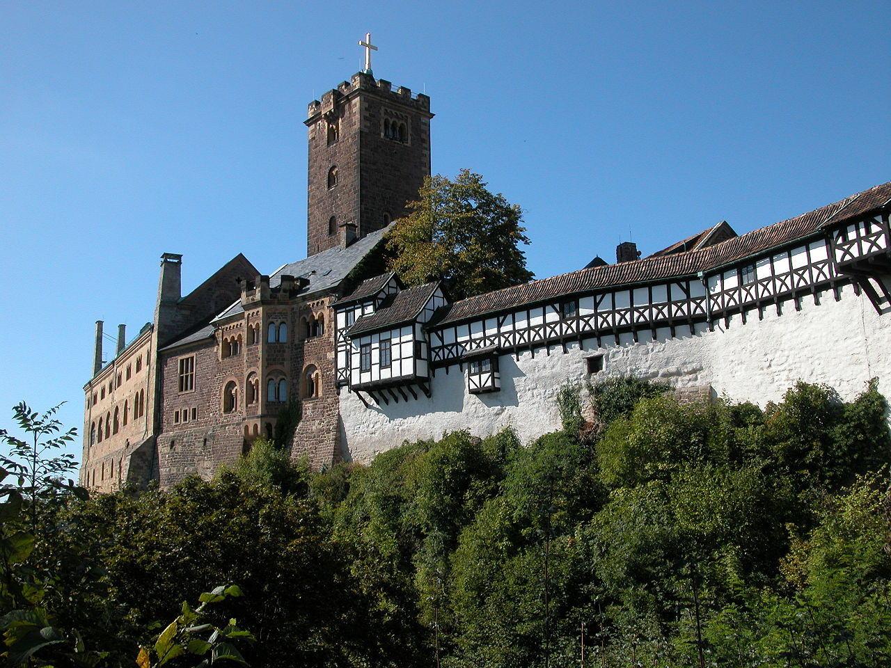 Wartburg Castle in Eisenach, Germany (photo: Robert Scarth, Wikimedia license CC BY-SA 2.0)