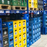 Beer cases in Germany: 20 bottles each 0.5 liter