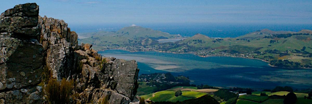 Peninsula seen from Port Chalmers, New Zealand (photo: Tourism Dunedin)