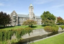 University of Otago, Dunedin, New Zealand (photo: Tourism Dunedin)
