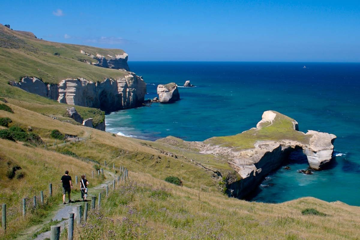 Tunnel Beach, Dunedin, New Zealand (photo: Tourism Dunedin)