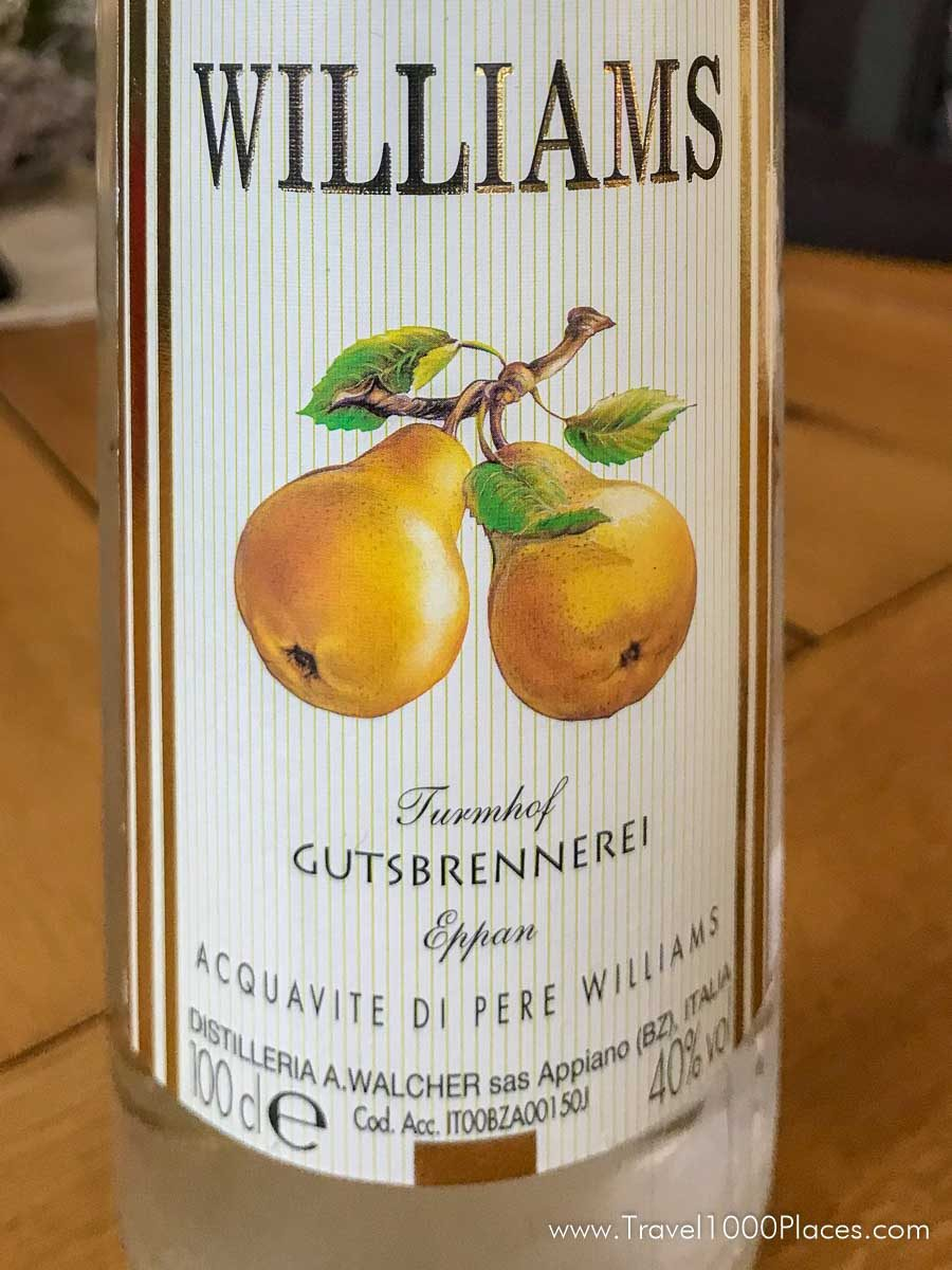 Williams Birne Schnapps -- a typical German Schnapps type