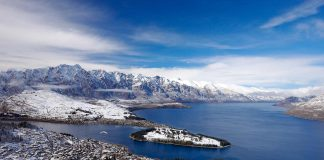 Aerial view Queenstown in winter from Bob's Peak (photo: Destination Queenstown)