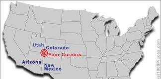 Four Corners Monument: Arizona, New Mexico, Colorado, Utah (photo: www.travel1000places.com)