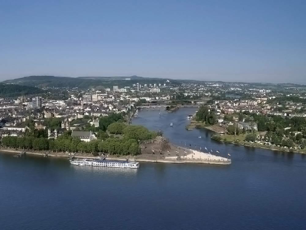 Deutsches Eck, Koblenz (German Corner, Coblenz) (photo: Koblenz Touristik)