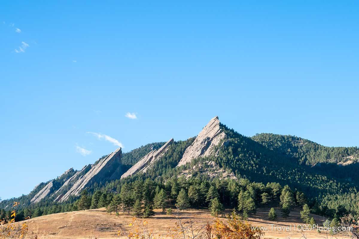 Flat Irons at Chautauqua Park in South Boulder, Colorado