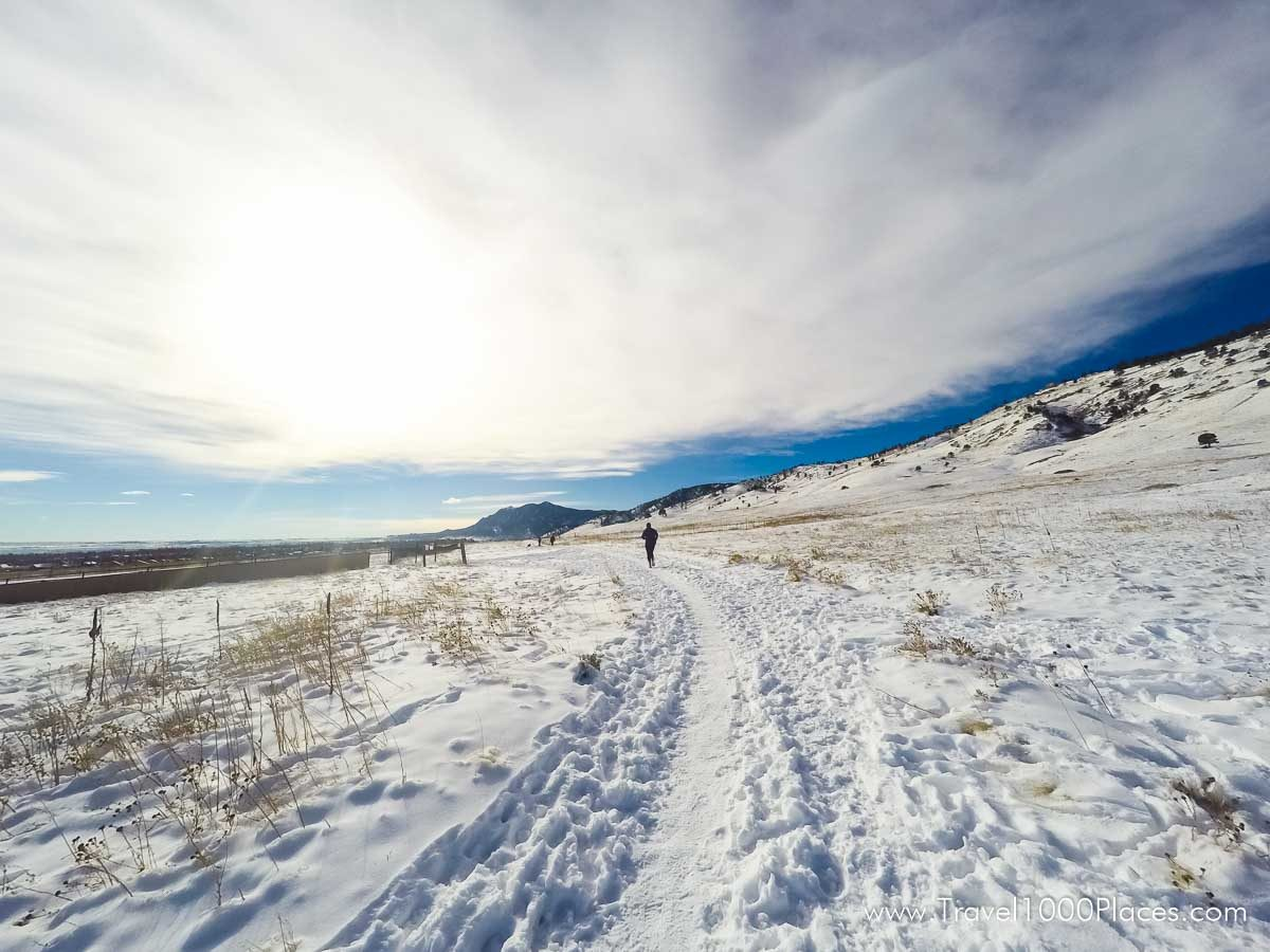 Boulder at the foothills of the Rocky Mountains offers miles of trails