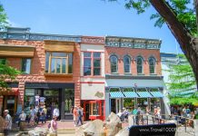 Pearl Street Mall, pedestrian zone in downtown Boulder, Colorado