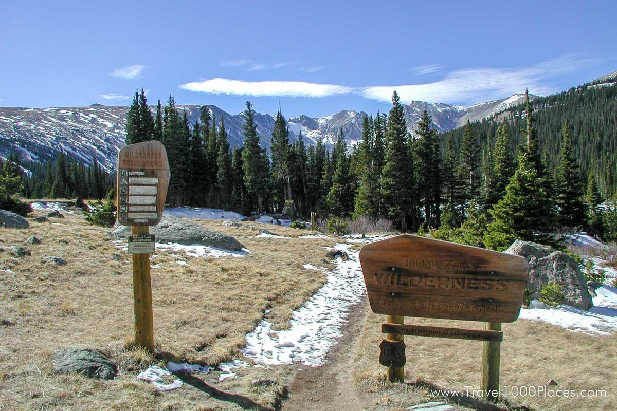 Brainard Lake, Colorado near Boulder, Colorado: the Rocky Mountains with hunfreds of hiking trails are just a stone throw away