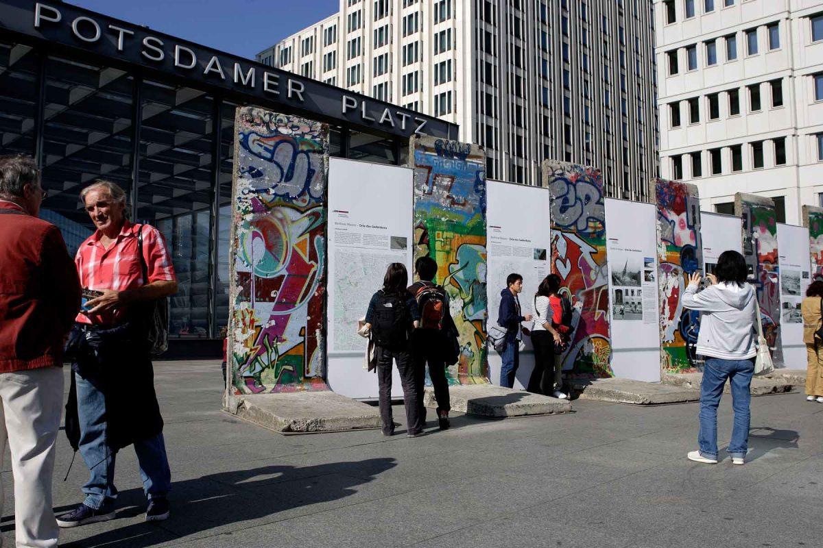 Remains of the Berlin Wall at Potsdamer Platz (photo: visitBerlin; Wolfgang Scholvien)
