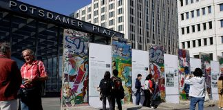 Remains of the Berlin Wall at Potsdamer Platz (photo: visitBerlin; Wolfgang Scholvien)
