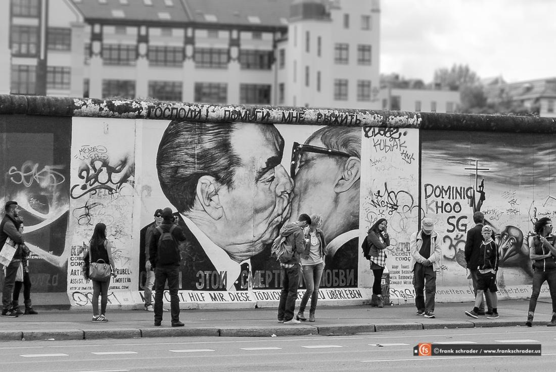 Berlin Wall Graffiti Gorbachev and Erich Honecker