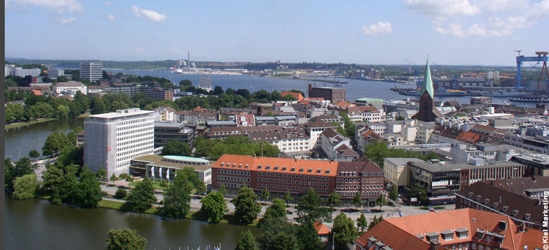 View from City Hall Tower in Kiel