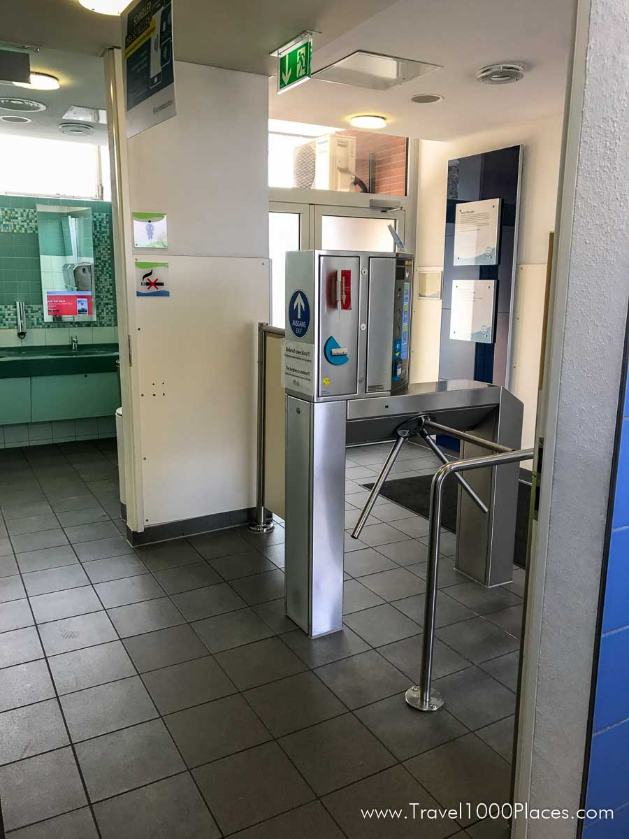 Pay-to-Pee / German Rest Area at the Autobahn