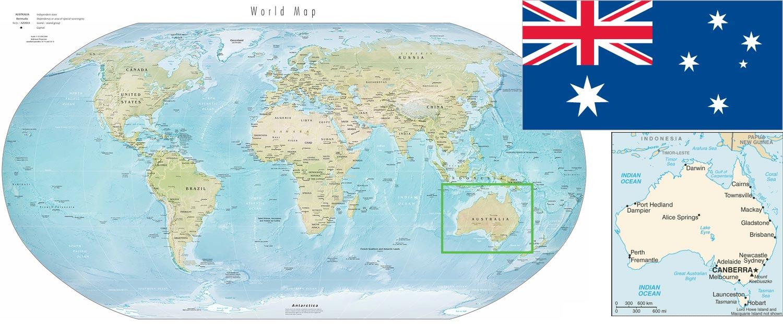 Australia on the World Map