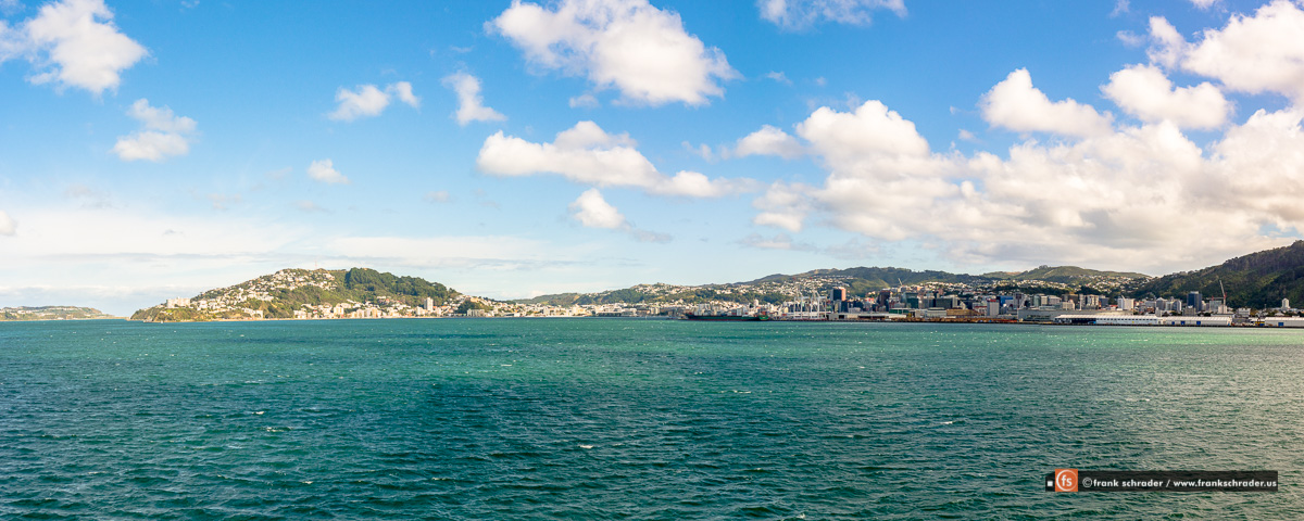 View of Wellington when approaching by ferry from the South Island