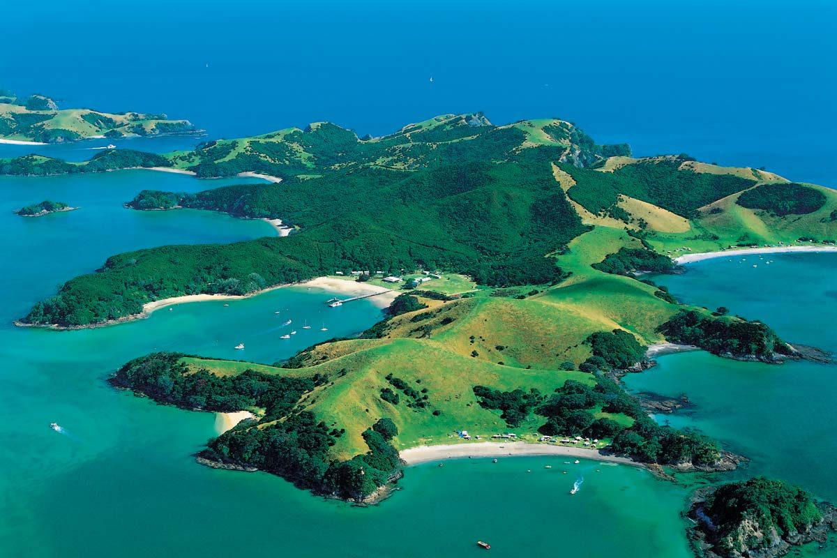 Urupukapuka Island, Bay of Islands. Historians believe that Urupukapuka Island was first inhabited around 1000 years ago. Today much of the island is a conservation park - campers and day-trippers are welcome. There are numerous archaeological sites on the island, linked by a well-marked walking trail. Beautiful white sand beaches are another reason to visit. (photo: TNZ Tourism New Zealand)