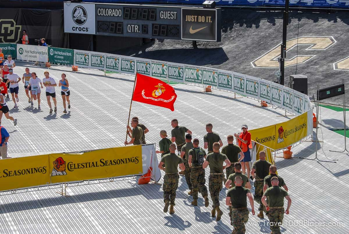 Bolder Boulder 10k race in Boulder, Colorado, on Memorial Day each year
