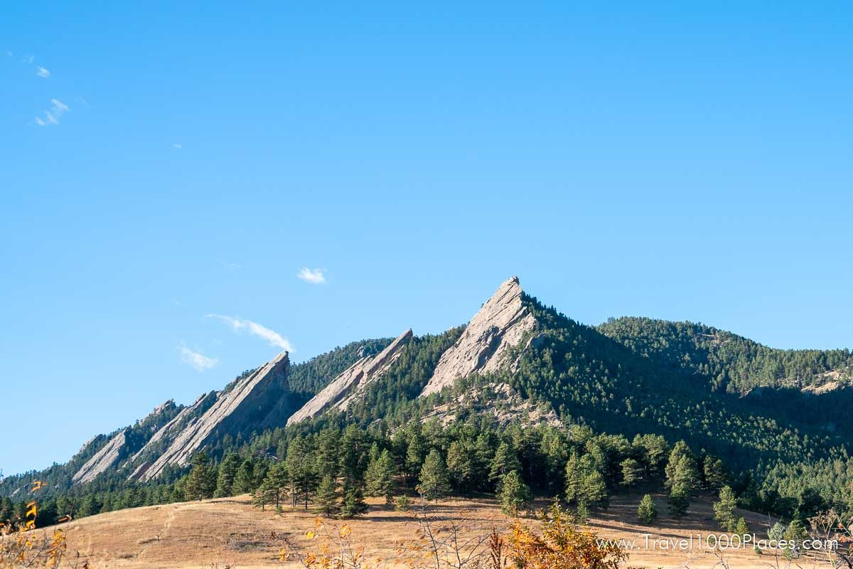 Flat Irons at Chautauqua Park in South Boulder, Colorado