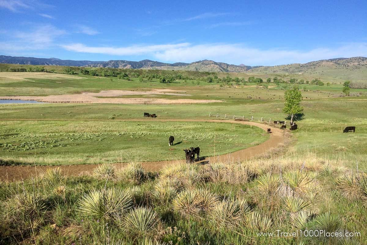 Boulder, Colorado with miles of trails for running and hiking