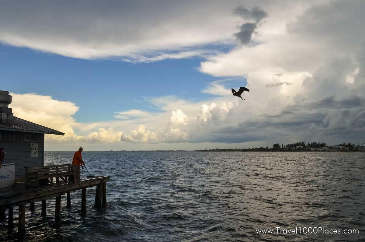 Fishing on Anna Maria Pier, Anna Maria Island, Florida