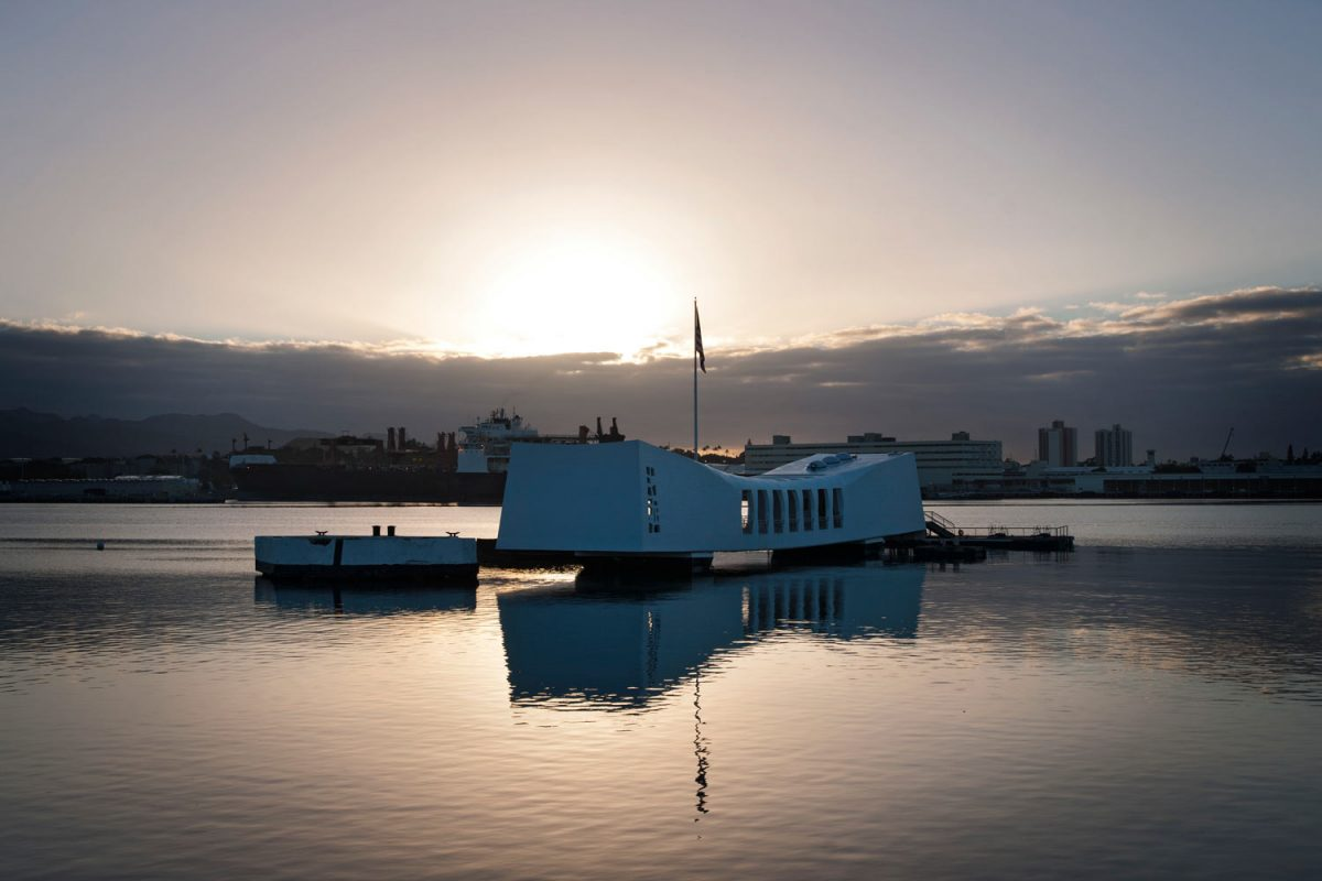 USS Arizona Memorial, Pearl Harbor, Oahu, Hawaii (photo: NPS)