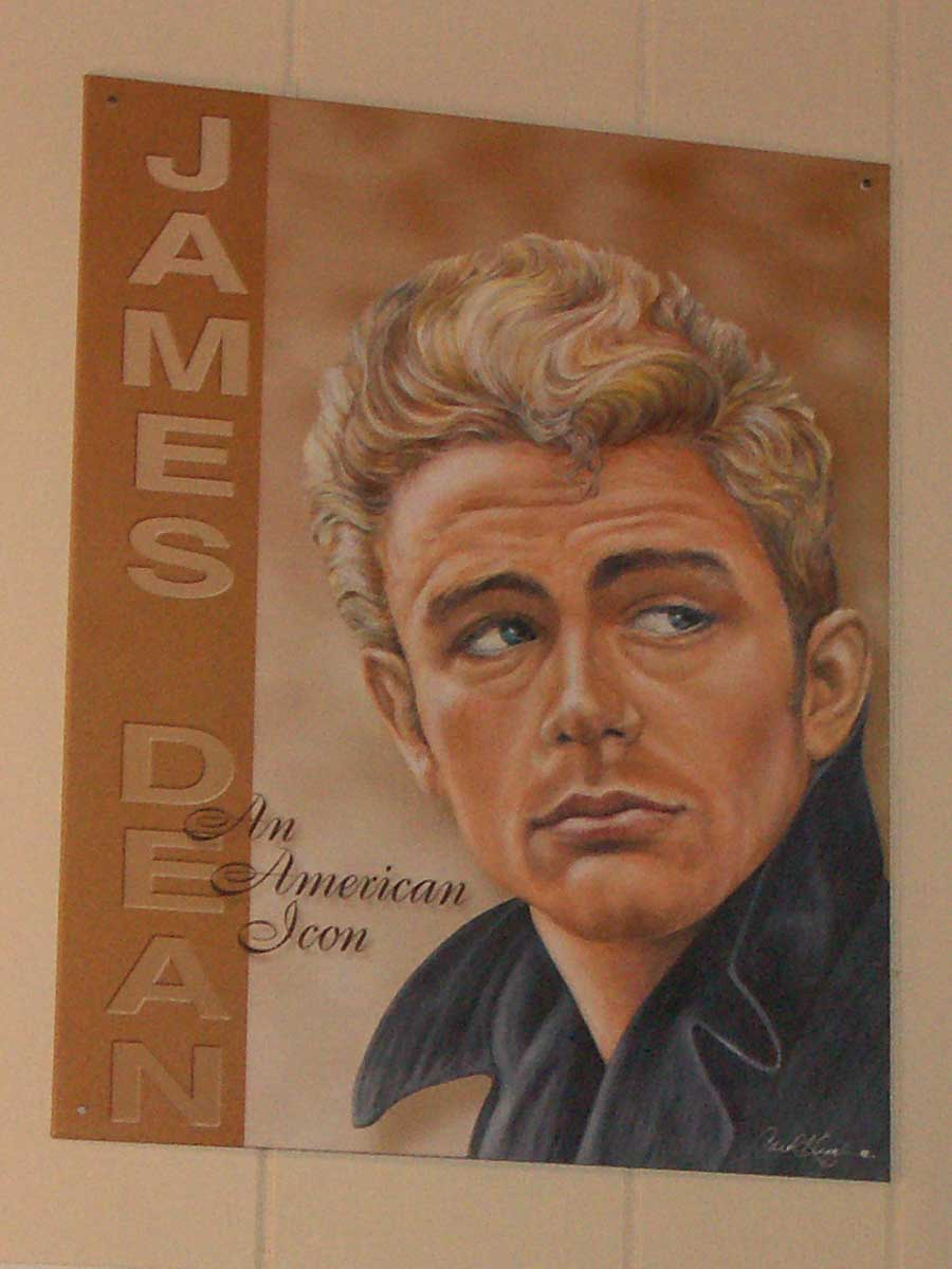 James Dean on a movie poster