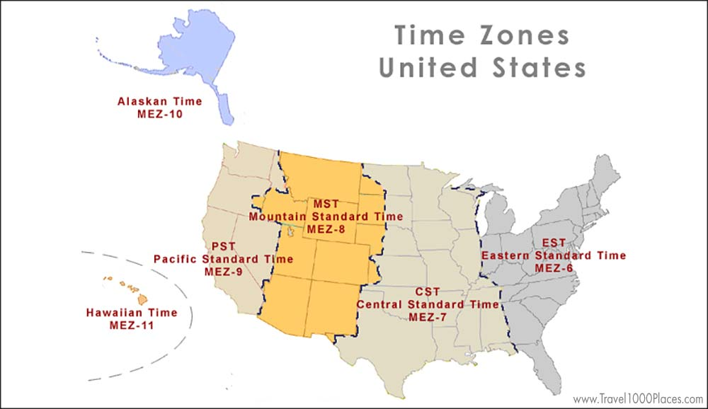 Time Zones USA