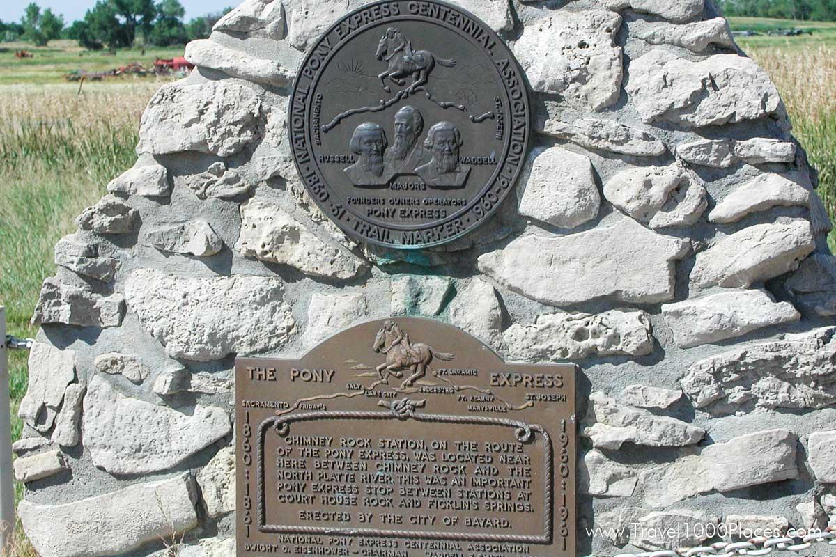 Chimney Rock Station on the route of The Pony Express, Nebraska, USA