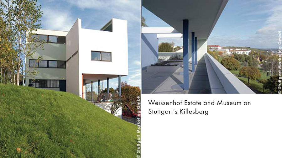 Weissenhof, Stuttgart -- one of the architects was Le Corbusier [photo: Stuttgart-Marketing GmbH]