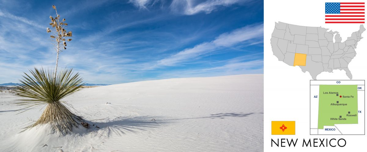 New Mexico, USA -- photo: White Sands National Park [photo: frank schrader, all rights reserved]