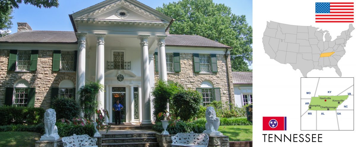 Tennessee, USA - photo: Elvis Home Graceland in Memphis