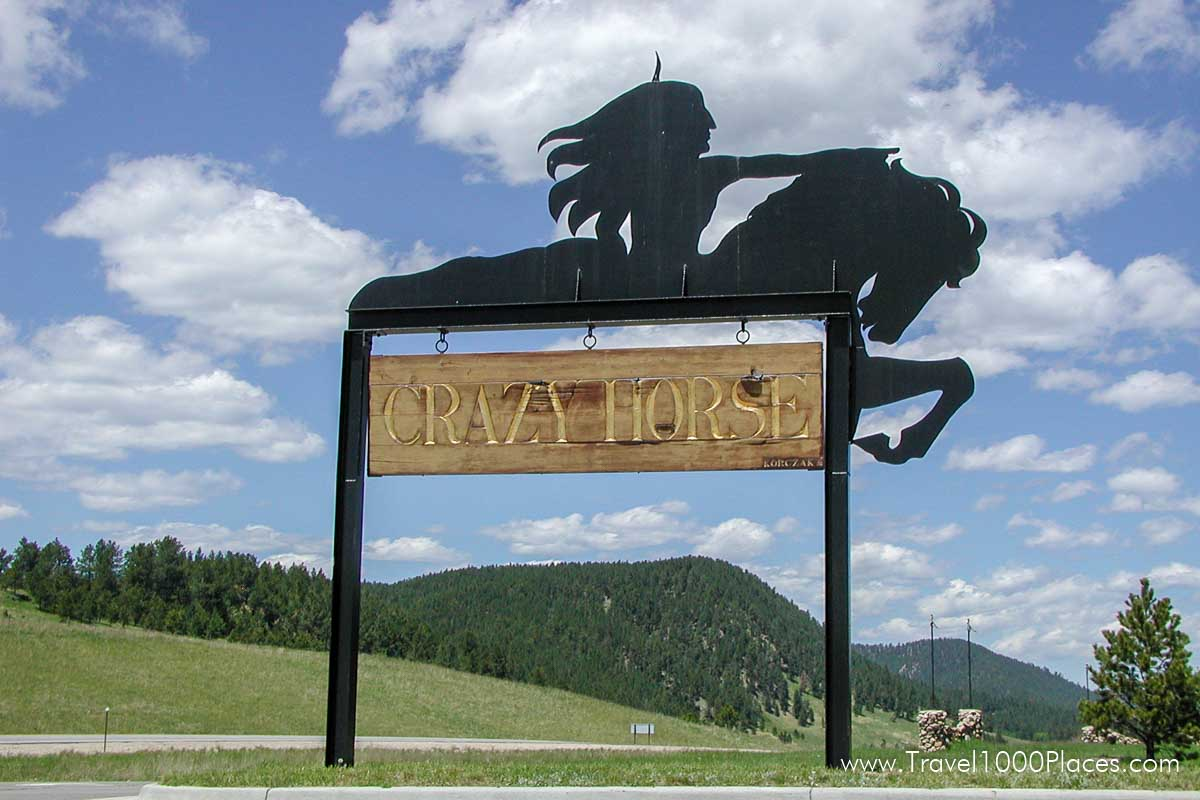 Crazy Horse Welcome Sign