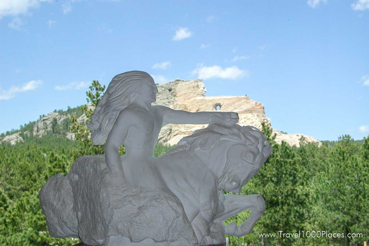 Crazy Horse Statue Model as it will look once finished