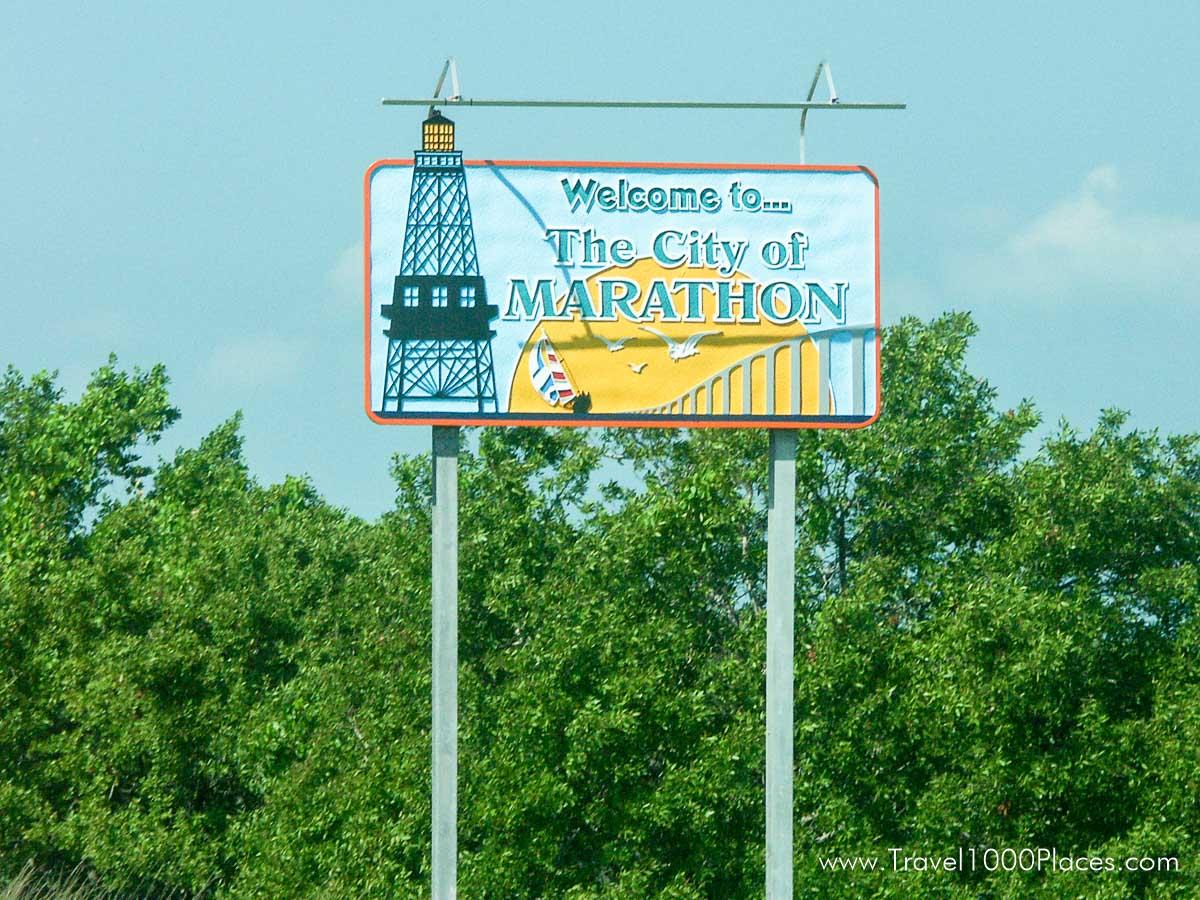 Marathon Welcome Sign, Florida Keys