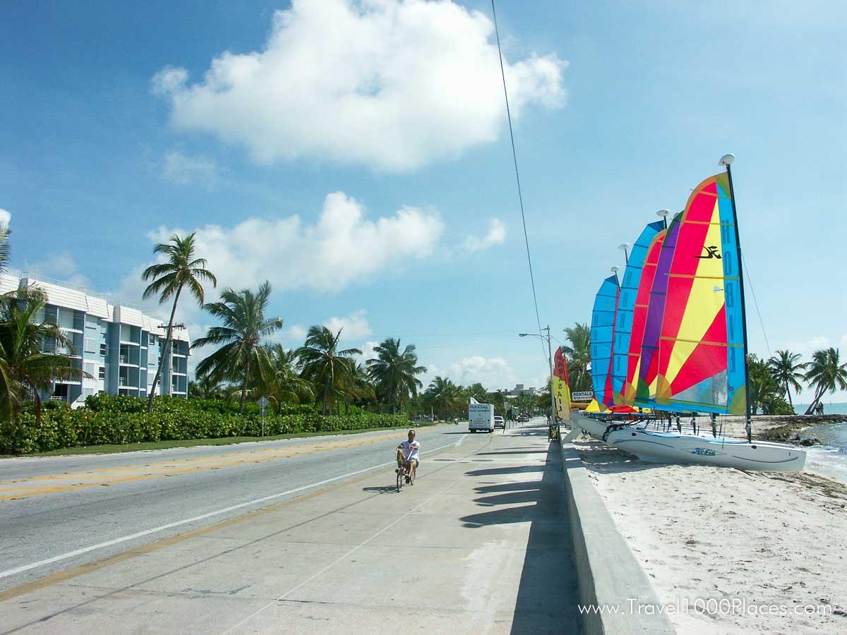 Beach in Key West, Florida, USA