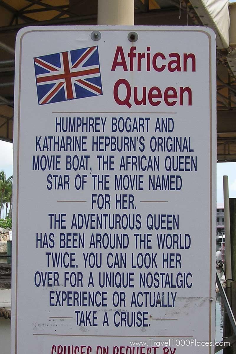 African Queen, Key Largo, Florida Keys