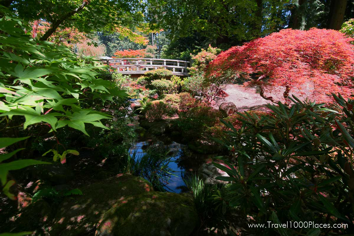 Japanese Gardens at Washington Park in Portland, Oregon