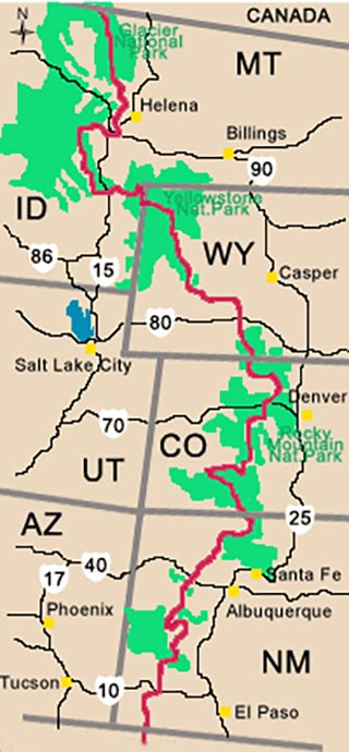 Continental Divide Trail in the USA