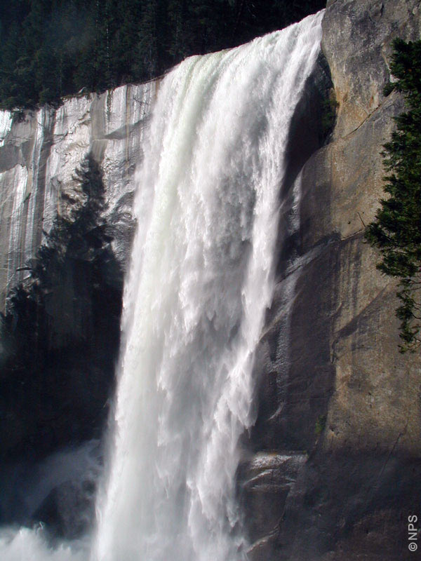Vernal Fall as seen from the Mist Trail, Yosemite National Park, California, USA [photo: NPS]
