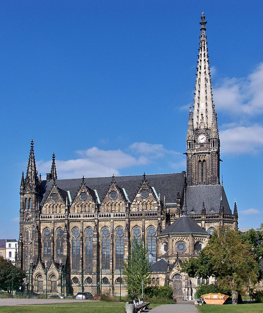 Peterkirche in Leipzig, Germany [photo: Joeb07 (Johannes Kazah), CC BY 3.0 https://creativecommons.org/licenses/by/3.0, via Wikimedia Commons]