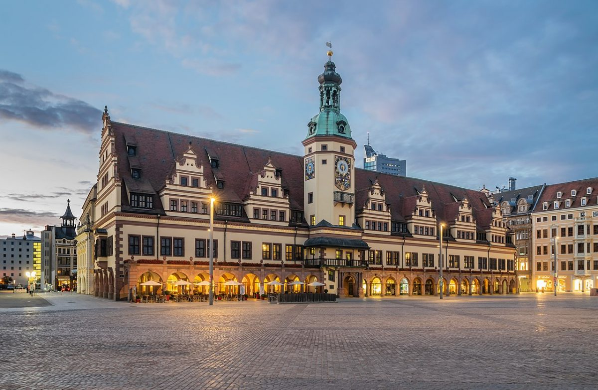 Old City Hall in Leipzig [photo: Krzysztof Golik, CC BY-SA 4.0 https://creativecommons.org/licenses/by-sa/4.0, via Wikimedia Commons]