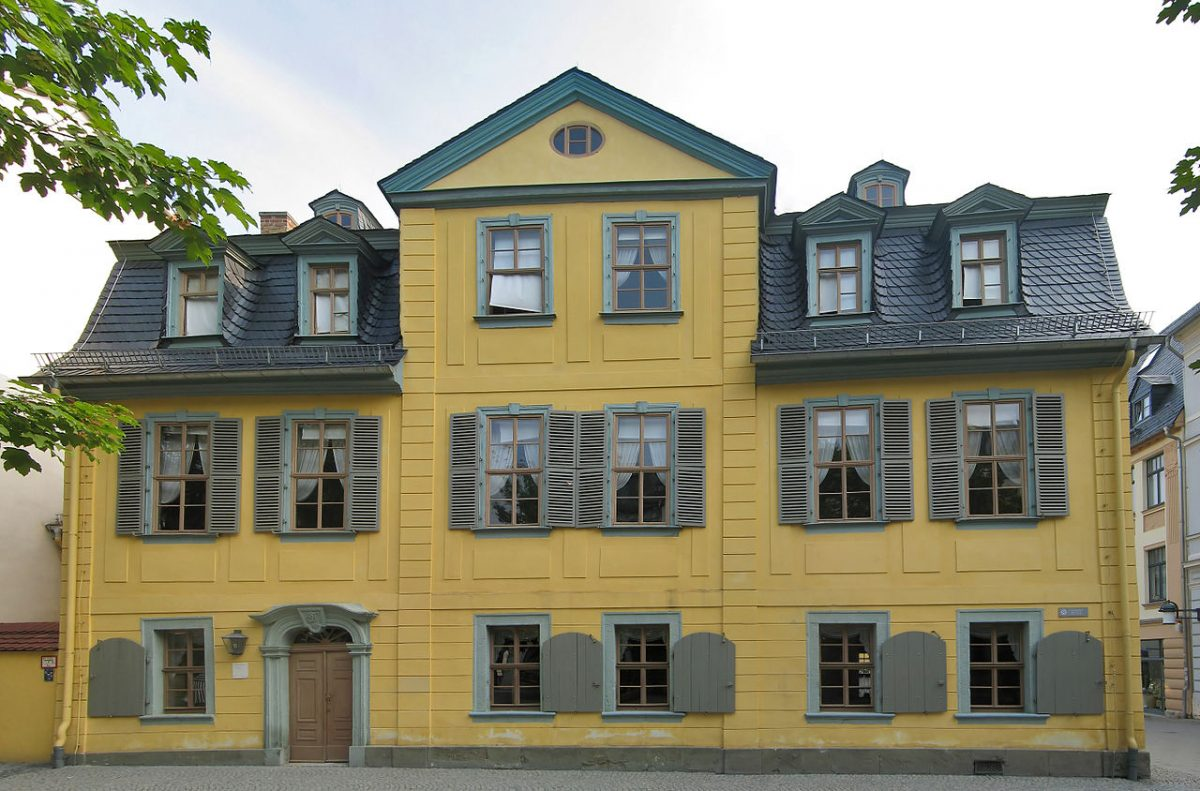 Schiller's house in Weimar, Germany [photo: Andreas Trepte, CC BY-SA 2.5 https://creativecommons.org/licenses/by-sa/2.5, via Wikimedia Commons]