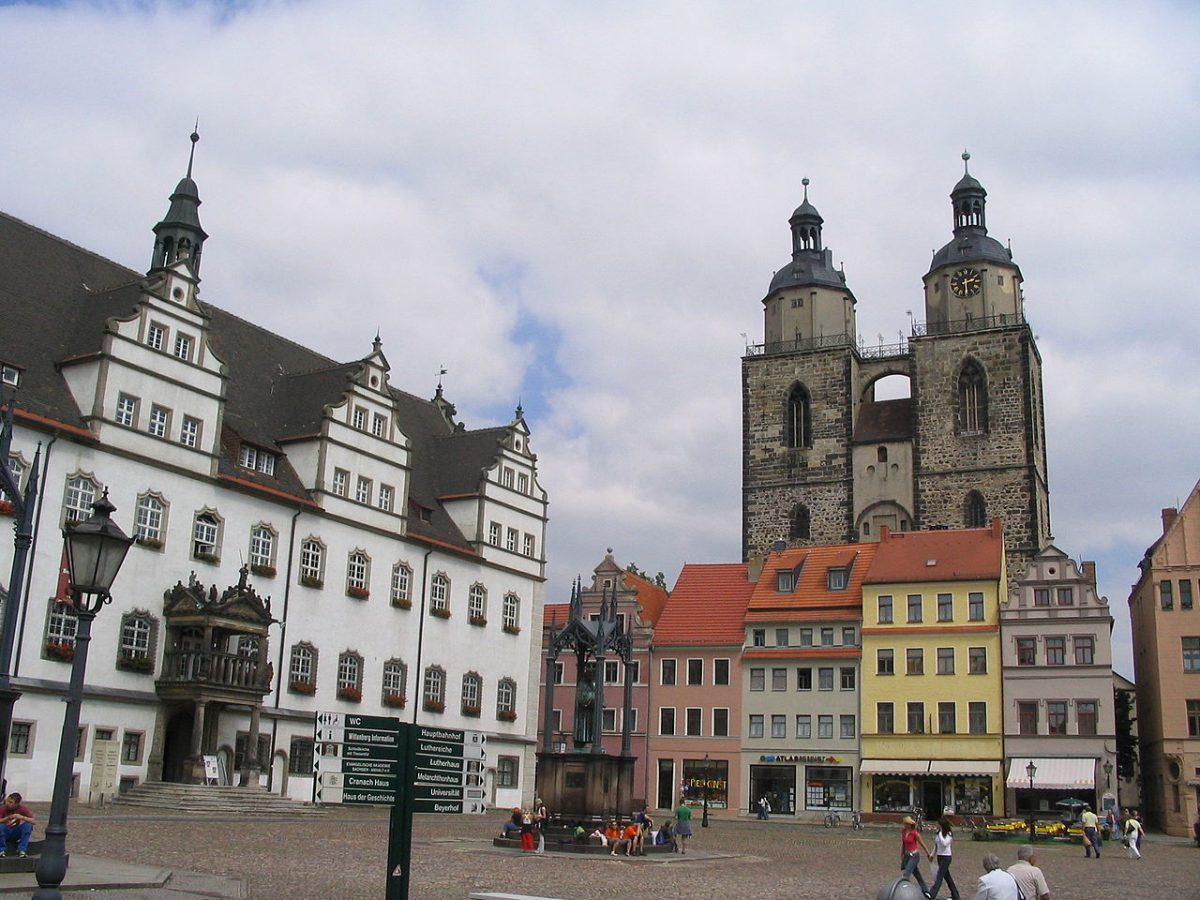 Market Square in Wittenberg [photo: PD via Wikimedia Commons]