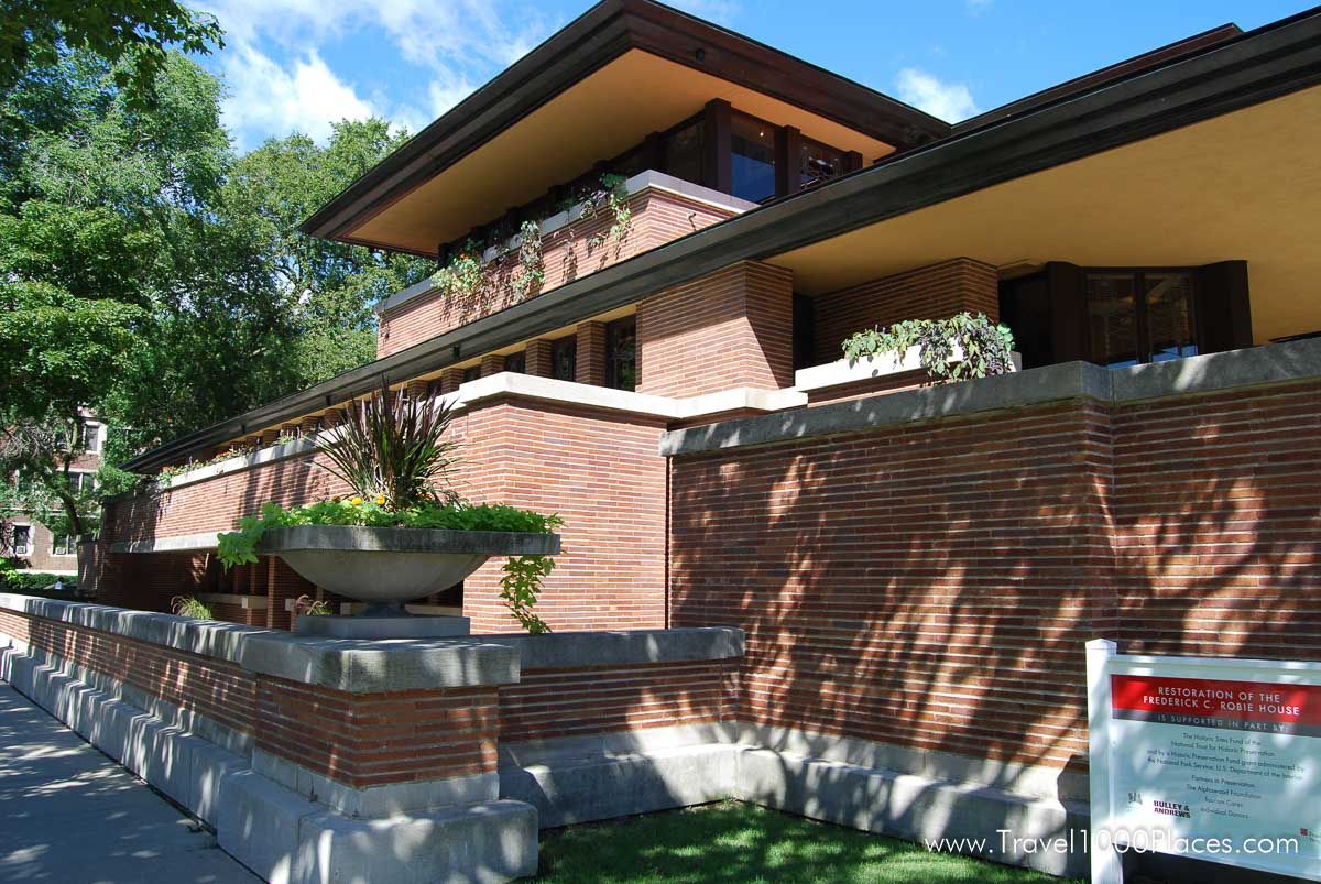 Robie House by Frank Lloyd Wright, Chicago