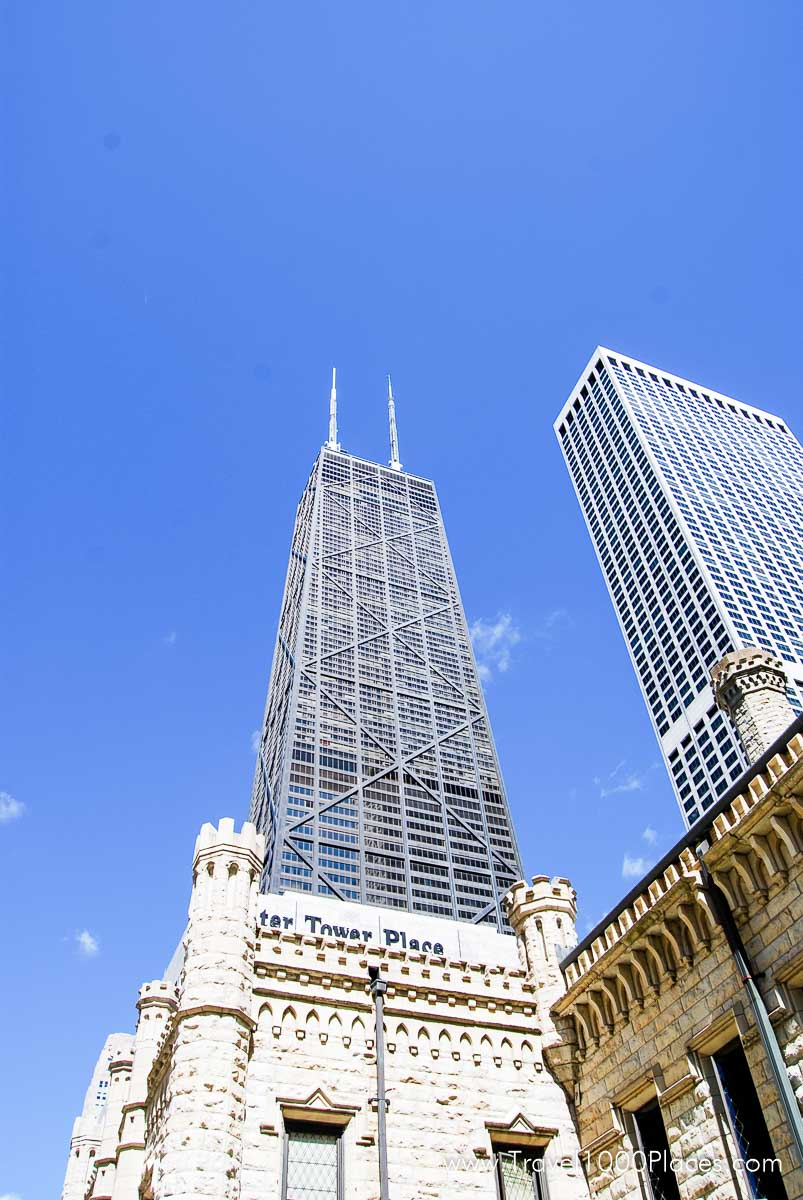 John Hancock Center and Water Tower Place (in front)