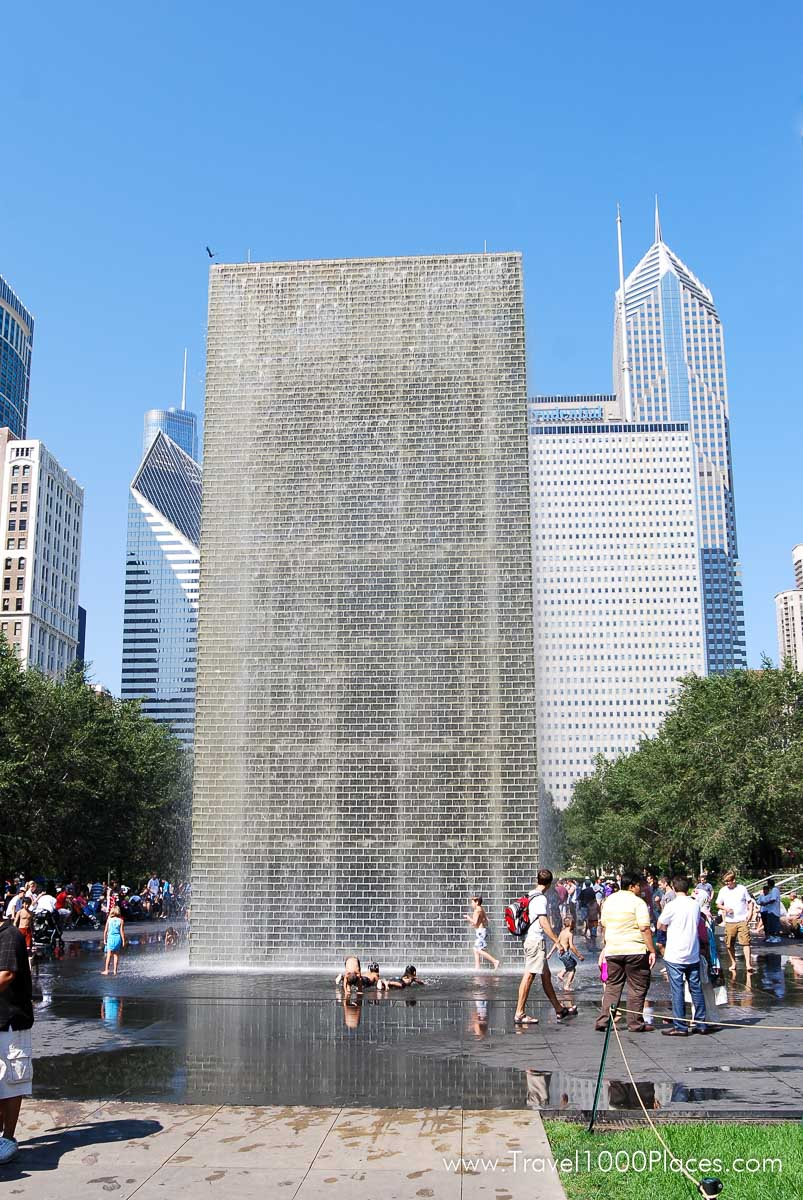 Crown Fountain at Chicago Millennium Park